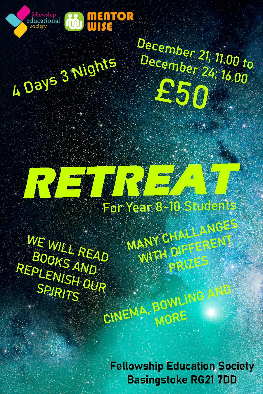 Retreat 4 days 3 nights